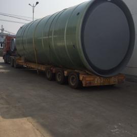 福建厦门预制泵站集成式玻璃钢筒体