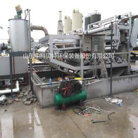 石料清洗泥浆脱水设备选哪家?中科贝特带式压滤机设备 处理量大