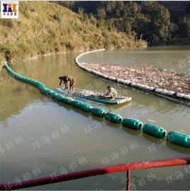 水电站进水口漂浮式浮筒水上拦污浮体拦污栅