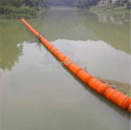 水上隔离拦渣浮体 河道拦汛网塑料浮排介绍