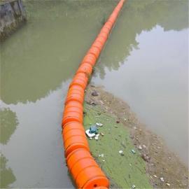 河道围栏塑料浮体 水上拦汛网塑料浮排规格介绍