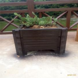 五湖水泥花箱仿木漆