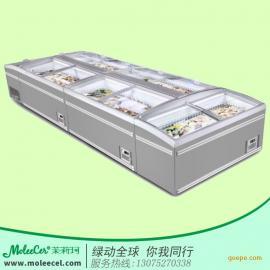 超市冷柜品牌哪个好超市节能直冷冷冻岛冰柜冷藏柜厂家广州直销