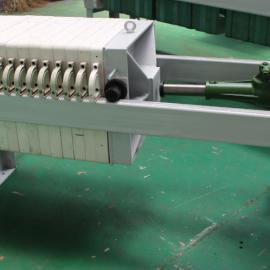 供应板框压滤机手动拉板压滤机手动千斤顶压滤机