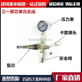 供应三一黄油泵润滑泵泵芯泵芯单元柱塞副总成压力表总成