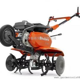 瑞典Husqvarna富世华汽油微耕机TF230小型松土机 旋耕起垄开沟机