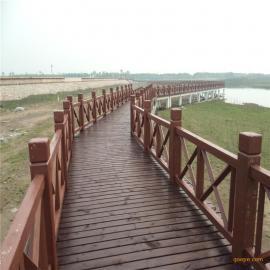 水泥桥梁围栏仿木漆