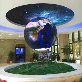 展览馆吊装1.5米直径球形LED显示屏一个重量