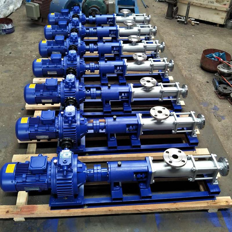 G型单螺杆浓浆泵源头厂家价格 不锈钢螺杆泵 防爆耐腐蚀螺杆泵