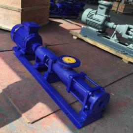G60-1卧式污泥螺杆泵 高效无堵塞固体颗粒输送泵 单螺杆浓浆泵