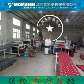 ASA PVC复合瓦 PVC耐候防腐梯形瓦 塑钢瓦机械设备