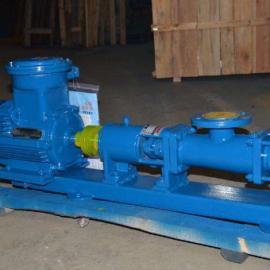防爆螺杆泵厂家G70-1单螺杆泵 铸铁材质 轴不锈钢 整体不锈钢