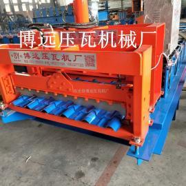 新型仿古瓦机器设备生产厂家@加宽800竹节琉璃瓦压瓦机