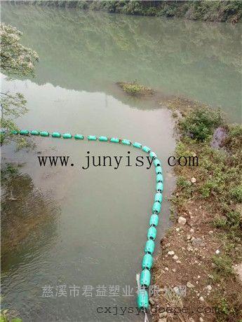 直径500*800水库垃圾拦截塑料浮筒 水上拦污聚乙烯浮筒