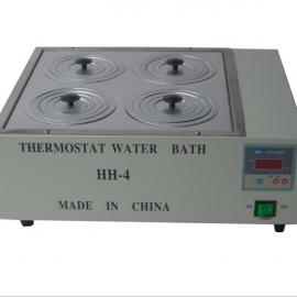 批发杰瑞尔 HH-4 双列四孔数显电热恒温水浴锅 不锈钢水浴箱