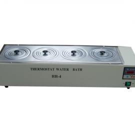 杰瑞尔 数显单列恒温水浴锅 HH-4 实验医用电热型恒温水浴箱