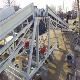65公分宽圆管主架家用裙边格挡升降输送机加工
