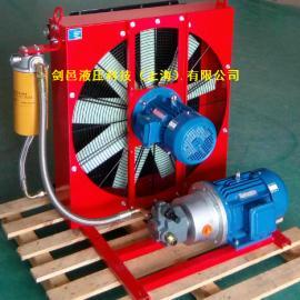 剑邑ELDL系列独立循环式稀油润滑站风冷却器散热器_油冷却系统