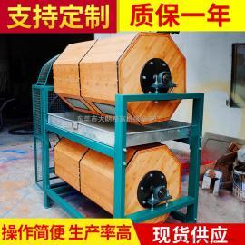 精富出售干式滚筒研磨机 双层竹木滚筒抛光机双层木滚筒光饰机