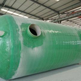 100立方玻璃钢化粪池 玻璃钢隔油池 玻璃钢雨水收集池