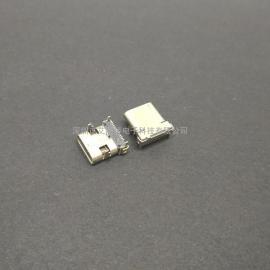 四脚卧式type-c母座/12P插12P贴 无弹片/板上型type-c母座 24P