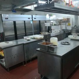 清洗酒店餐厅学校食堂厨房设备及大型抽油烟机静电油烟净化器