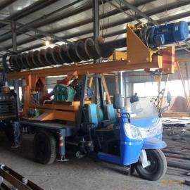 三轮车改造打桩机 农村建房螺旋打桩机 小型打桩机