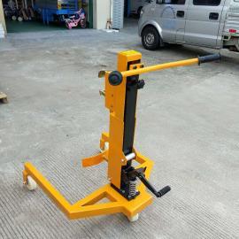 350kg脚踩咬合式搬运车 手动液压铁桶搬运车现货哪有卖
