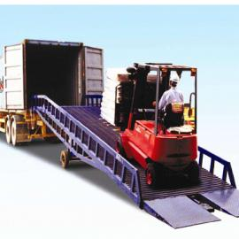 常平专业定制防滑钢板网液压登车桥|叉车进货柜卸货平台
