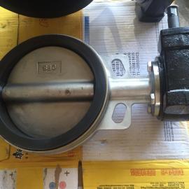 对夹式蝶阀 D371X-16C DN200 软密封橡胶蝶阀