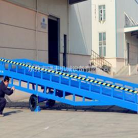 厂家热销8/10/12吨机械式固定支撑脚登车桥 货柜装车升降登车桥
