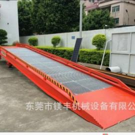 载重10吨 升高1.68米电动起升镀锌防锈防滑钢格板液压登车桥