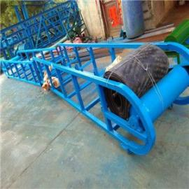 8米长固定高度皮带卸车输送机 四滚筒可整机移动圆管输送机