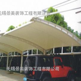 工业园区小区膜结构电瓶车充电棚-园区社区膜结构停车棚定制