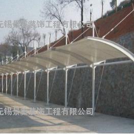 木渎小区膜结构电瓶车充电棚-木渎社区膜结构停车棚定制