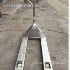 厂家供应2/3吨全不锈钢地牛托盘叉车 手动液压304不锈钢搬运叉车