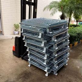 现货大量批发货架仓库笼 带脚轮货物周转笼