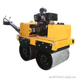 仲迪小型双轮手扶式压路机厂家 双轮振动压实碾图片 公路压土机
