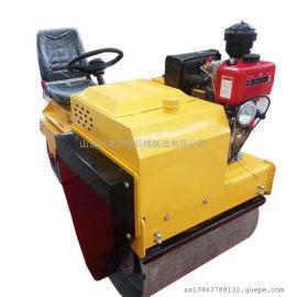 仲迪小型座驾式压路机厂家 双钢轮柴油水冷压土机价格