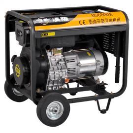 5KW手启动柴油发电机HS6500X