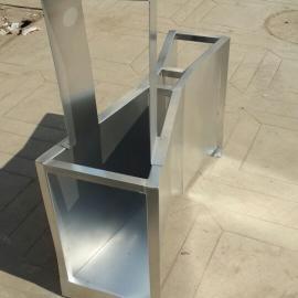 城市供水引水渠流量监测不锈钢巴歇尔B=51(2号)槽在线厂家销售