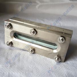 化工机械专用焊接方形板式视镜 储罐专用焊接条形视镜 平焊视镜