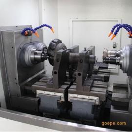 立式铣端面打中心孔_轴类零件加工设备_雷欧机床