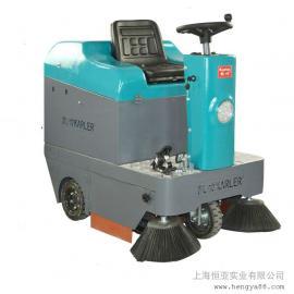 KL1050工厂吸尘洒水车垃圾清扫车电动驾驶式扫地机路面灰尘