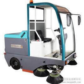 驾驶式扫地机半封闭清扫车吸尘车街道灰尘清扫车