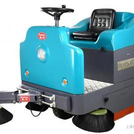 电动驾驶式扫地机物业工厂用道路清扫车景区树叶粉尘电瓶扫地机