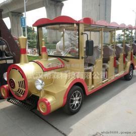 14座旅游景区燃油观光小火车汽油观光火车