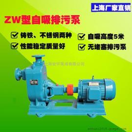 厂家直销32ZW20-12自吸排污泵 不阻塞自吸污水泵