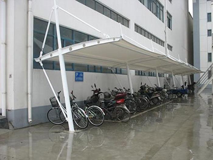 扬州停车棚设计制作-扬州电动车充电棚-扬州私家小型停车棚图片