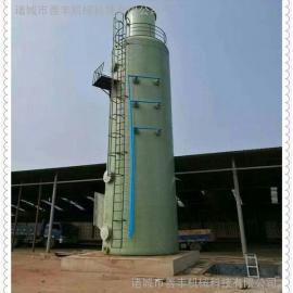 塑料加工厂废气处理设备,高效玻璃钢脱硫除尘设备